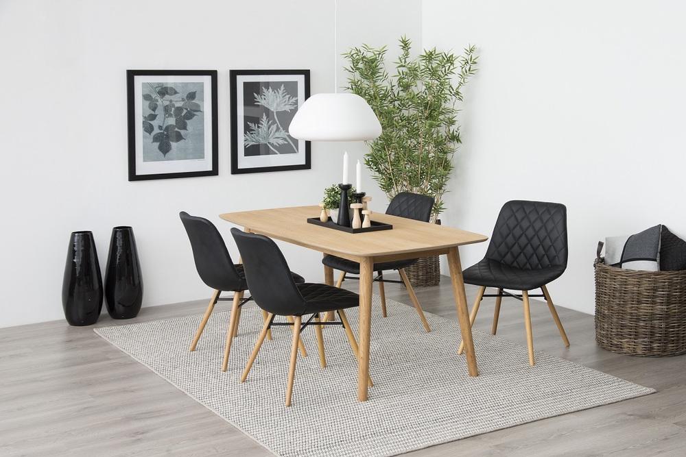 Stylová jídelní židle Albin černá