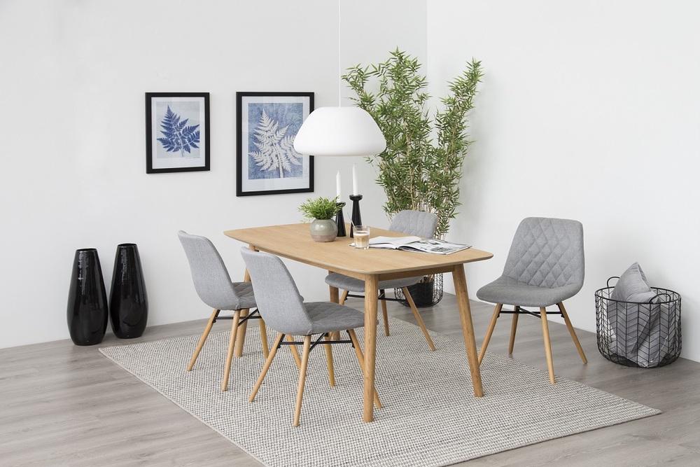 Stylová jídelní židle Albin světlešedá