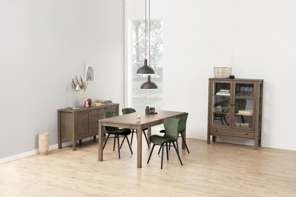 Stylová jídelní židle Alejo lesnická zelená