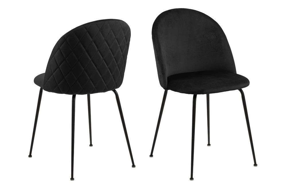 Stylová jídelní židle Alexandre černá - Skladem (RP)