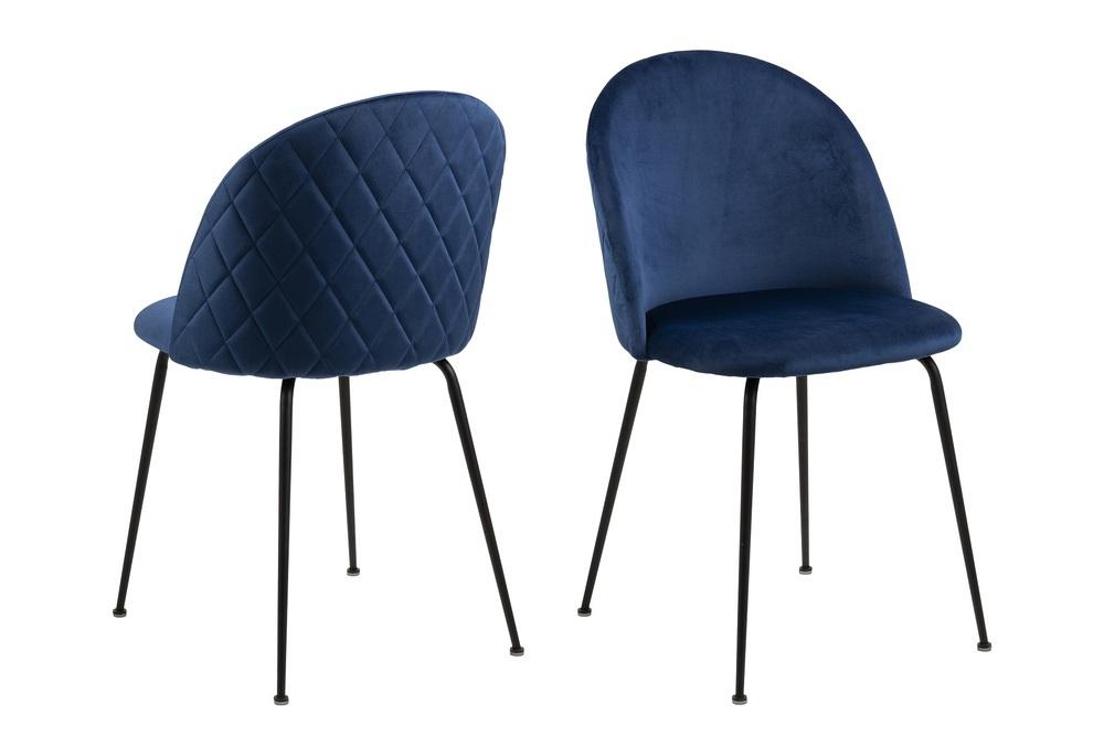 Stylová jídelní židle Alexandre tmavě modrá