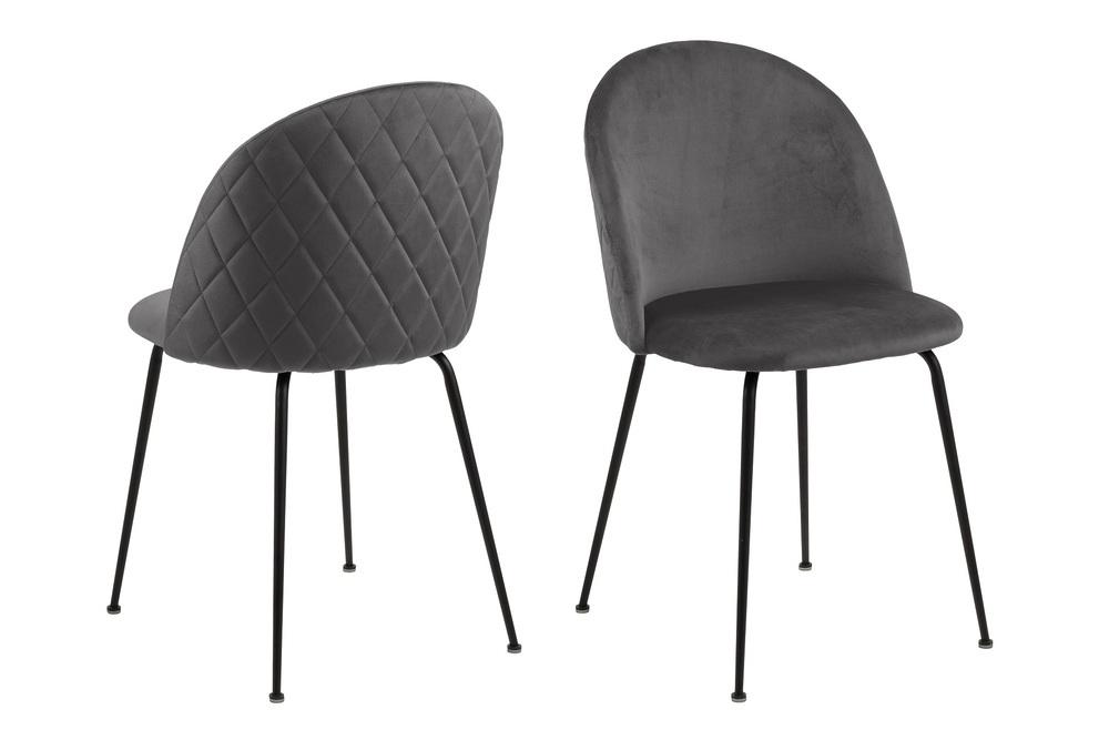Stylová jídelní židle Alexandre tmavě šedá