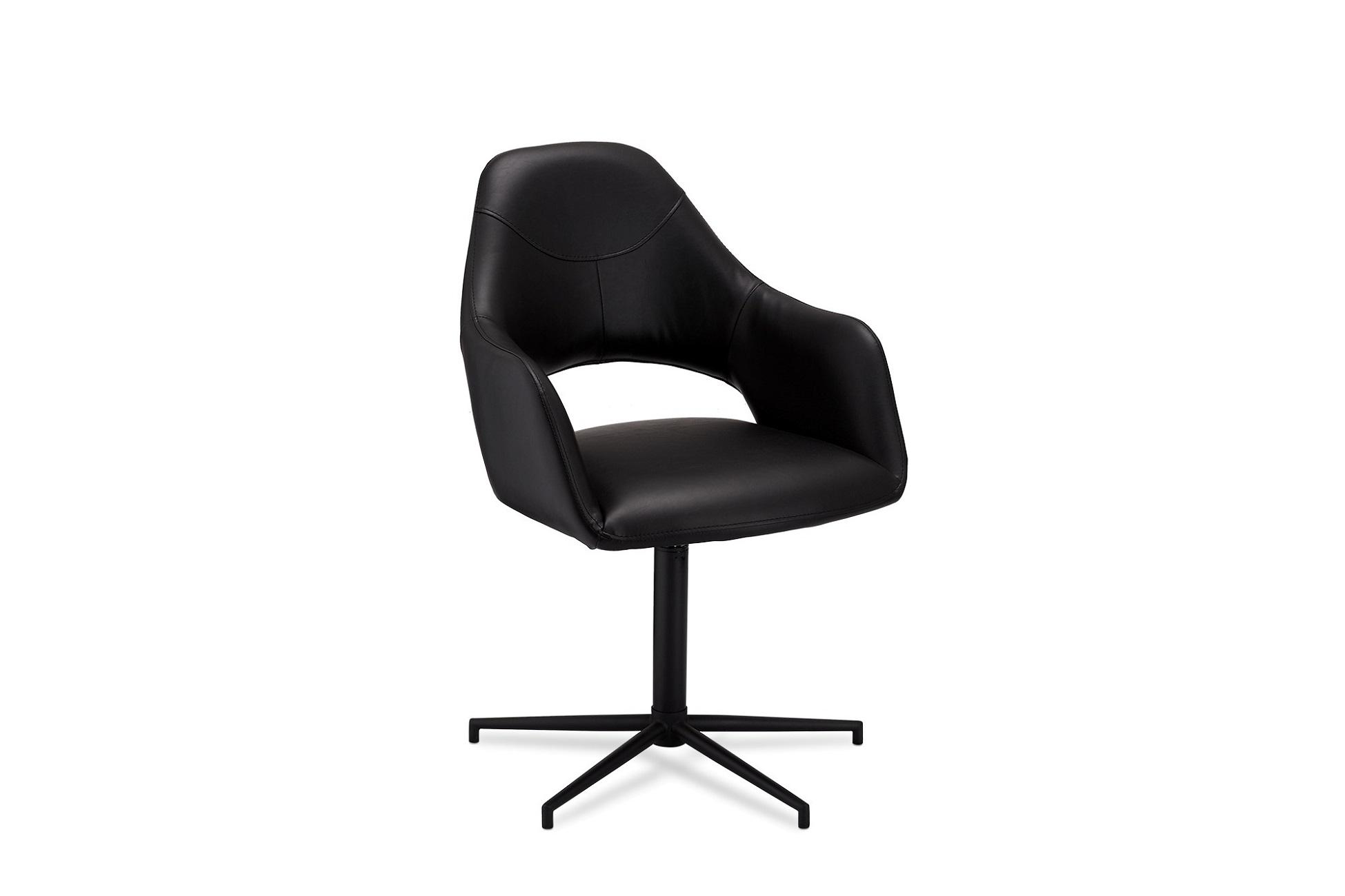 Stylová židle Aarush, černá