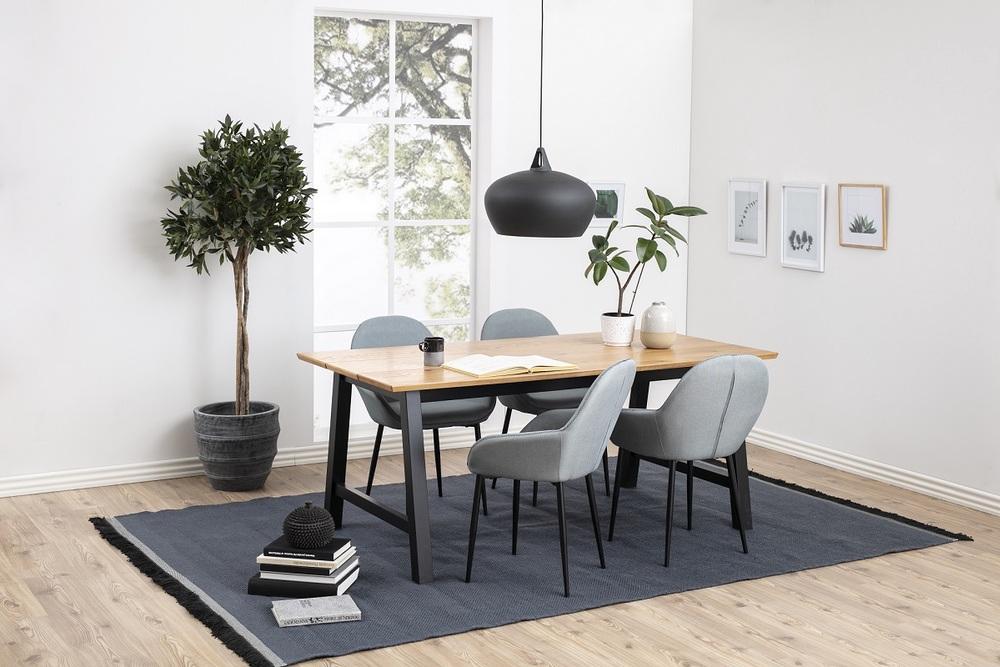 Stylová židle Alard popelavá zelená