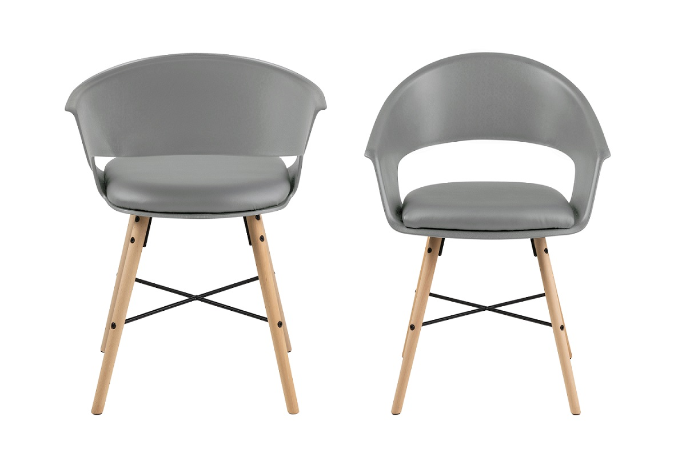 Stylové židle Alben šedá