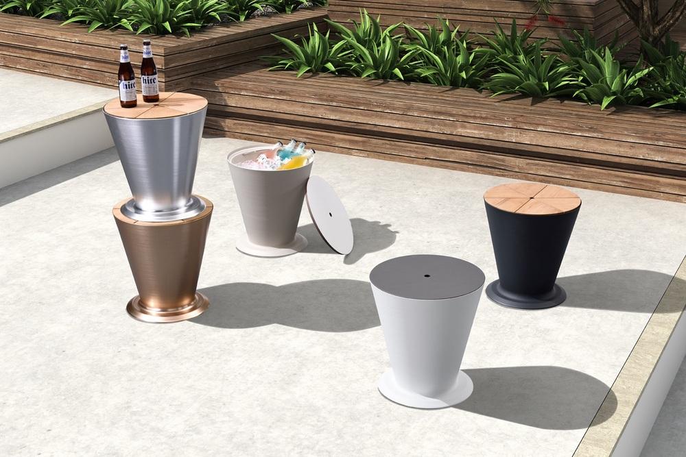 Zahradní stolek HIGOLD - ICOO BLACK / WHITE - Skladem (RP)